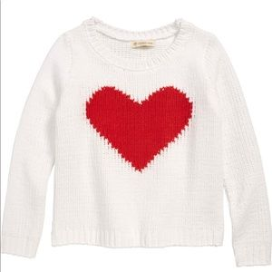 NWOT Tucker + Tate Heart Plush Sweater